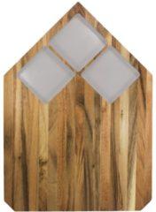 Grijze TAK Design Pau Snijplank - Acaciahout - 40,5 x 28,5 cm - Beton Grijs