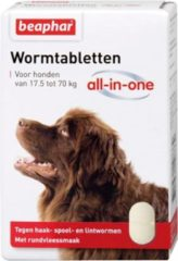 Beaphar Wormtablet All In One Hond - Anti wormenmiddel - 2 tab 17.5 Tot 70 Kg