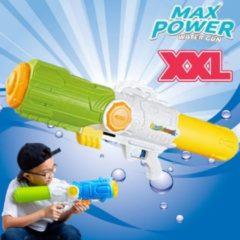 XXL Waterpistool - MEGA Super soaker waterpistool voor jongens - Jumbo waterkanon - Supersoaker water pistool voor kinderen - Waterspeelgoed Watergeweer - Water gun met groot water reservoir - Afm 80x15x27 Cm - 3.2 Liter GROEN/GEEL - Decopatent®