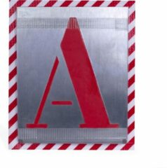 BVG alfabetsjablonen | hoogte 250mm