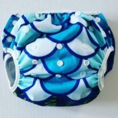 Merkloos / Sans marque Big Size wasbare zwemluier zeemeermin blauw