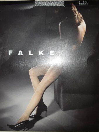 Afbeelding van Grijze Falke fantasy panty maat S/M (zwart/wit)