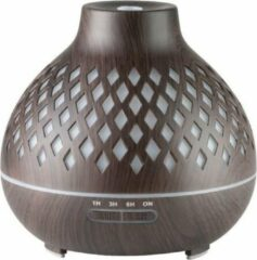 Donkerbruine Dermasyis ACTIVE Aroma Diffuser Luchtbevochtiger Spa 10 Donker Hout 400ml + Timer