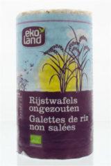 Ekoland Rijstwafels zonder zout 100 Gram