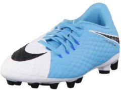 Fußballschuhe Jr Hypervenom Phelon III AG-Pro 878644-104 mit Nocken-Sohle Nike White/Black-Photo Blue-Chlorine Blue