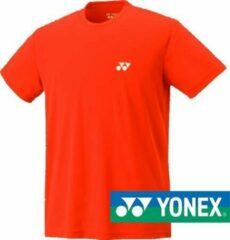 Oranje Yonex basic t-shirt 1025 - shiny orange - maat S