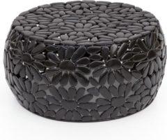 Perfecthomeshop Bijzettafel zwart metaal 56 cm – Uniek Design – Duurzaam Geproduceerd