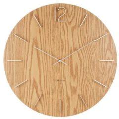 Bruine Karlsson Wall clock Meek MDF light wood veneer