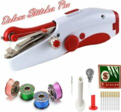 Rode Deluxe Stitcher Pro - PREMIUM Handnaaimachine + 11 Extra Reserve Naalden en Accesoires - Mini naaimachine - Compact - Draadloos - Draagbare Hand Naaimachine - Elektrisch of op Batterijen