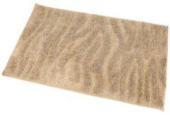 Beige GÖZZE Badteppich Welle sand 60 x 100 cm