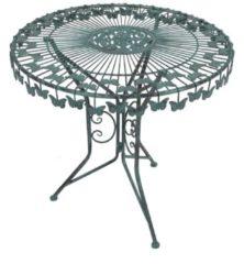 Dekorationstisch mit Schmetterlingsmotiv antik-grün