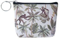 Clayre & Eef Melady Portemonnee MLSBS0042-25 10*8 cm - Meerkleurig Kunststof Beurs Geldbeurs Geldbuidel