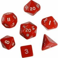 Merkloos / Sans marque Polydice - Polyhedral dobbelstenen set 8 delig | Set van 7 in velours bewaarzakje / bag / pouch| dungeons and dragons dice | D&D Pathfinder RPG | Rood