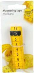 Merkloos / Sans marque Geel meetlint 150 cm flexibel van plastic - Centimeter - Meeteenheid in centimeter - Naaibenodigdheden
