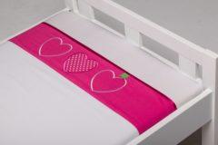 Briljant Baby Belle katoen kinderlaken - 100% katoen - Wiegje (75x100 cm) - Roze