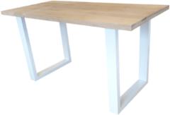 Bruine Wood4you - New england statafel Eikenhout 160Lx110Hx90D cm