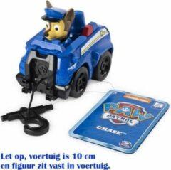 Blauwe Paw Patrol Rescue Racers - Chase Politie voertuig met reddingshaak- 10 cm
