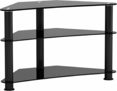 VDD TV meubel kast hoekmodel - audio hifi dressoir kast voor in de hoek - zwart