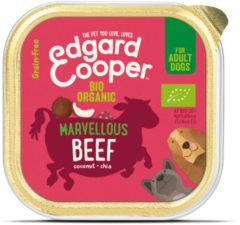 Edgard-Cooper Edgard&Cooper Kuipje Bio Beef Adult - Hondenvoer - Rund Kokos Chiazaad 100 g Biologisch