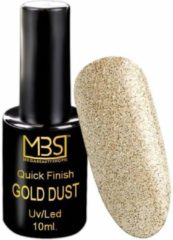 Gouden Mega Beauty Shop® Uv Quick Finish gel 10ml zonder plaklaag (gold dust effect)