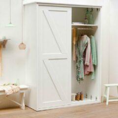 Timzowood Living Garderobe schuifdeurkast schoren wit