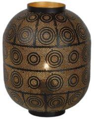 Zwarte Tischleuchte Tahar mit orientalischem Charme