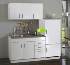 HELD Möbel Single-Küche Dallas 180 cm - Melamin weiß