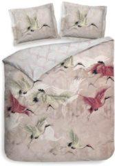 Roze Heckettlane Heckett & Lane Mao - Dekbedovertrek - Eenpersoons - 140x200/220 cm + 1 kussensloop 60x70 cm - Bridal Pink