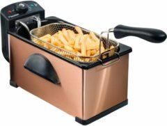Bestron AF370CO friteuse Frituurpan 3,5 l Enkel Zwart, Koper Losstaand 2000 W
