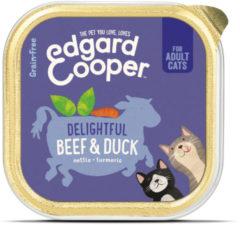 Edgard & Cooper Rund & Eend Kuipje - Voor volwassen katten - Kattenvoer - 85g