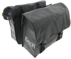 Zwarte Beck Mini Matte Black dubbele kinderfietstas 25 liter