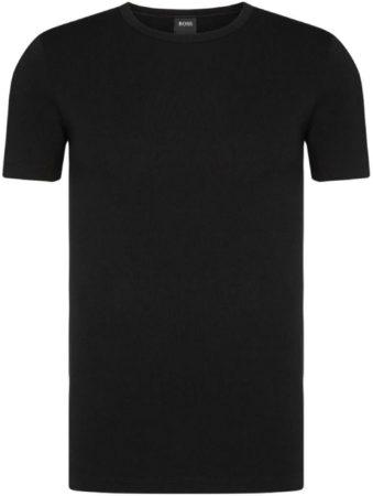 Afbeelding van Blauwe 2-pack: Hugo Boss stretch T-shirts Slim Fit - O-hals - zwart - Maat S