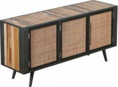 Bruine Hioshop NordicRattan TV-meubel met 3 deuren, naturel.