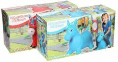 Blauwe Eddy Toys Skippypaard 49 X 43 X 28 Cm Blauw