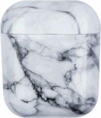 YPCd® Apple AirPods Hoesje - Wit - Marmer Hard Case