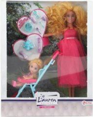 Toitoys Toi-toys Tienerpop Zwanger Kind In Buggy Meisjes Roze