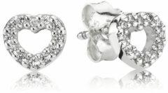 Pandora 290528CZ Oorbellen Hart zilver met zirconia