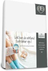 Witte Bed-Fashion Waterdichte molton matrasbeschermer 160 x 200 cm plateau