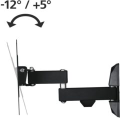 Hama TV-WH,FM,1-ST,200,2-ARME TV-beugel 48,3 cm (19) - 121,9 cm (48) Kantelbaar en zwenkbaar