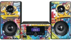 Lenco MC-020 Kompaktanlage mit Bluetooth FM Radio und USB, bunt