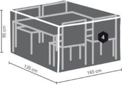 Antraciet-grijze Maxx Tuinset beschermhoes - 165 x 135 x 95 cm - rechthoekig - S