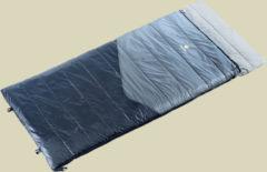 Deuter Space II Kunstfaserschlafsack Länge 195 cm + 35 cm, RV links titan-black