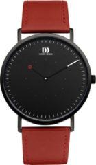 Zwarte Danish Design watches edelstalen herenhorloge On The Dot II Black Red IQ24Q1274