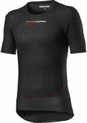 Zwarte Castelli Prosecco Tech Short Sleeve Base Layer - Onderkleding