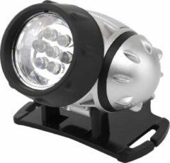 LED Hoofdlamp - Aigi Heady - Waterdicht - 20 Meter - Kantelbaar - 7 LED's - 0.54W - Zilver | Vervangt 6W - BSE