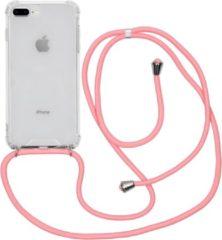 Transparante IMoshion Backcover met koord iPhone 8 Plus / 7 Plus / 6(s) Plus hoesje - Roze