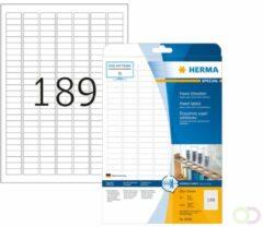 Etiketten Herma 10900 A4 25,4x10 mm wit extreem vast hechtend papier mat 4725 st.