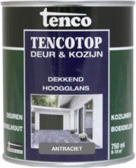 Antraciet-grijze Tenco tencotop deur & kozijn dekkend hoogglans antraciet - 750 ml