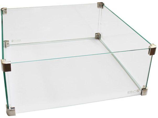Afbeelding van Transparante Exotan GAEVE glasset vierkant 50 x 50 x 21 cm