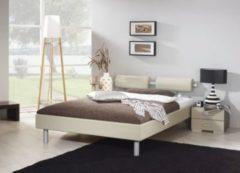 Rauch-PACKs Bett 140 x 200 cm mit Nako-Set sandgrau hochglanz/ Kunstleder sandgrau RAUCH PACKS Mavi Plus